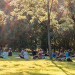 Yoga im Augarten Wien